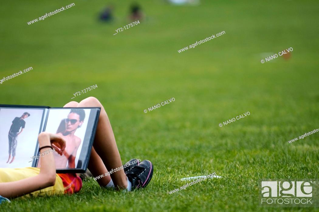 Stock Photo: Daylife at Central Park, Manhattan, New York City, New York State, USA.