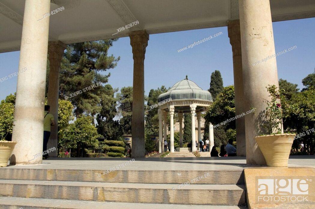 Stock Photo: Iran, Shiraz, Tomb of Hafez.