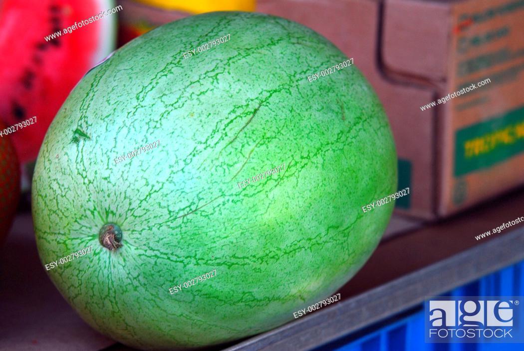 Stock Photo: Wassermelone, water melon.