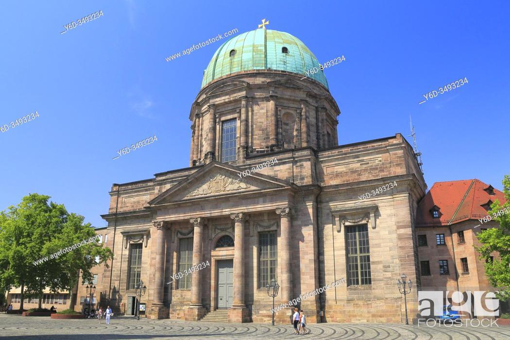 Stock Photo: St Elizabeth Church, Nuremberg, Bavaria, Germany.