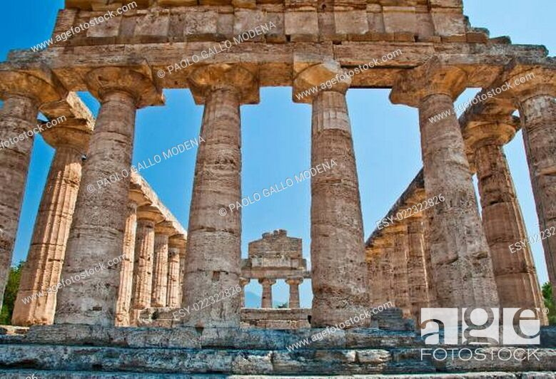 Stock Photo: Paestum temple - Italy.