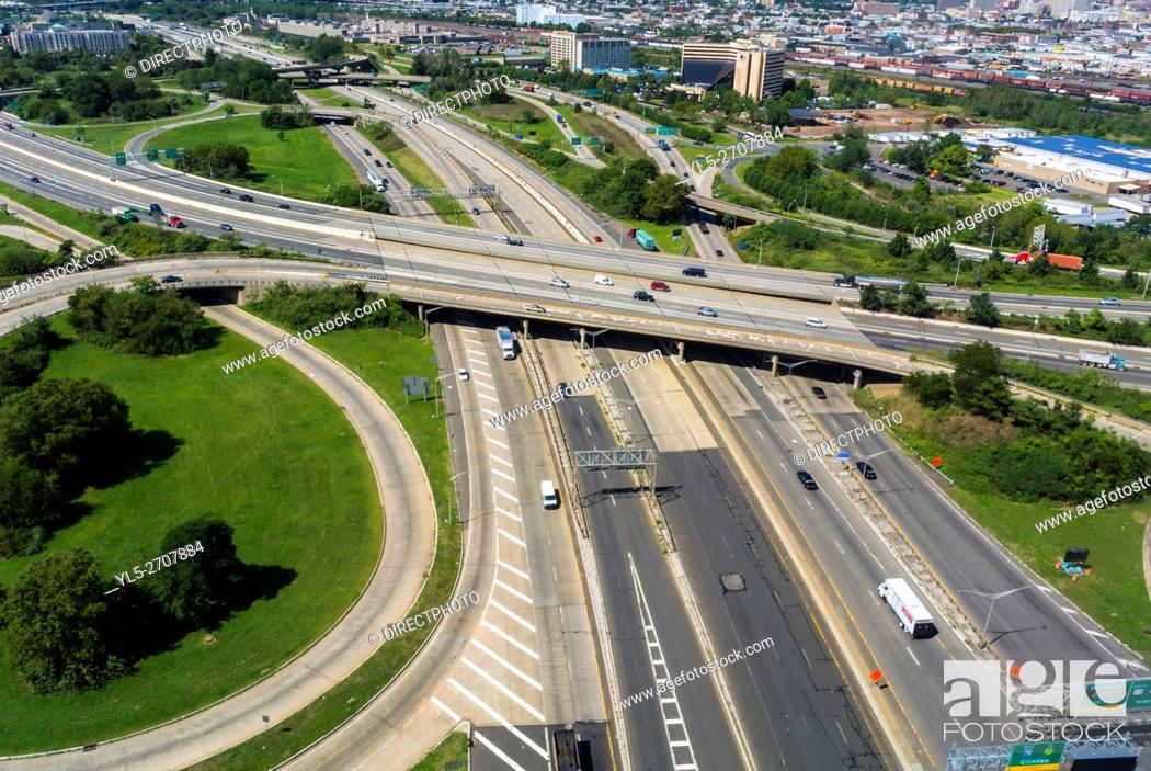 Stock Photo: Newark, New Jersey, USA, Aerial View from Airplane, .