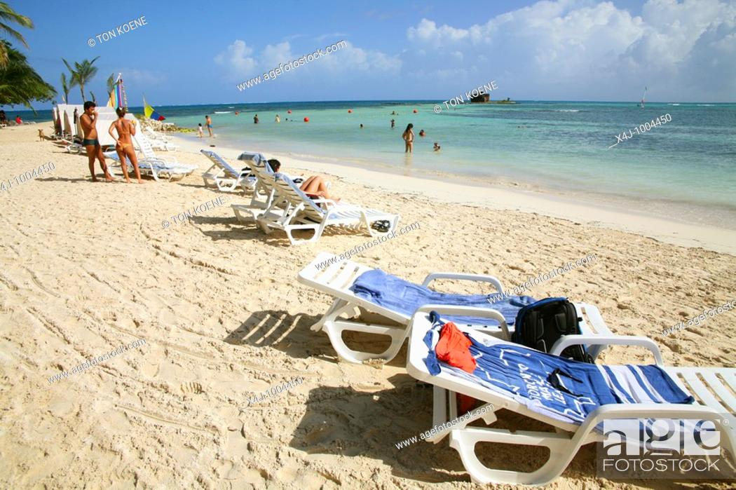 Stock Photo: San Andres Island in the Caribbean. Colombia.