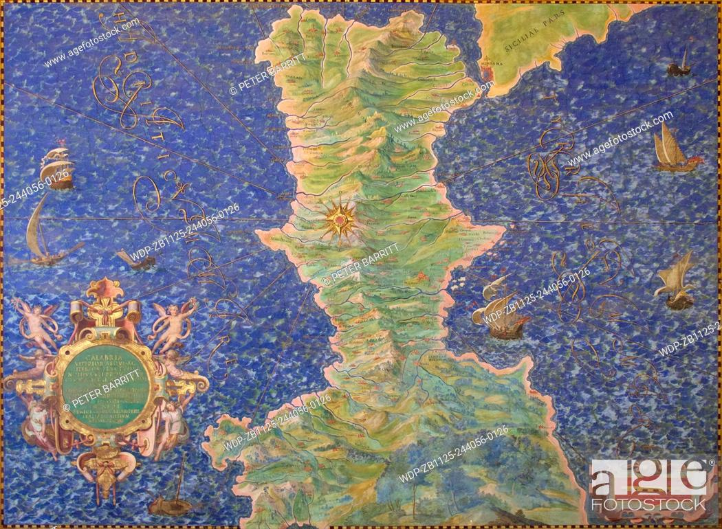 Map of Calabria by Ignazio Danti Gallery of Maps Vatican Museums