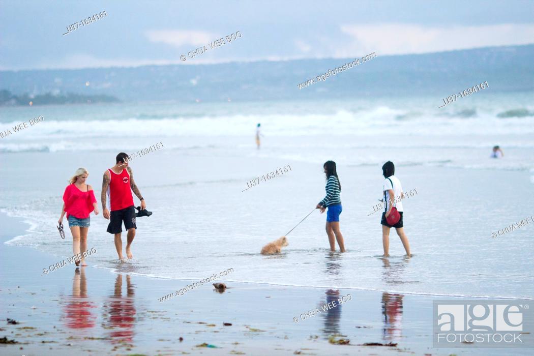 Stock Photo: Seminyak Beach, Bali, Indonesia.
