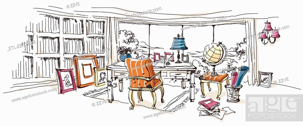 Stock Photo: Office interior.