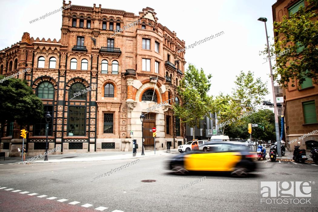 Stock Photo: A beautiful building in Barcelona.