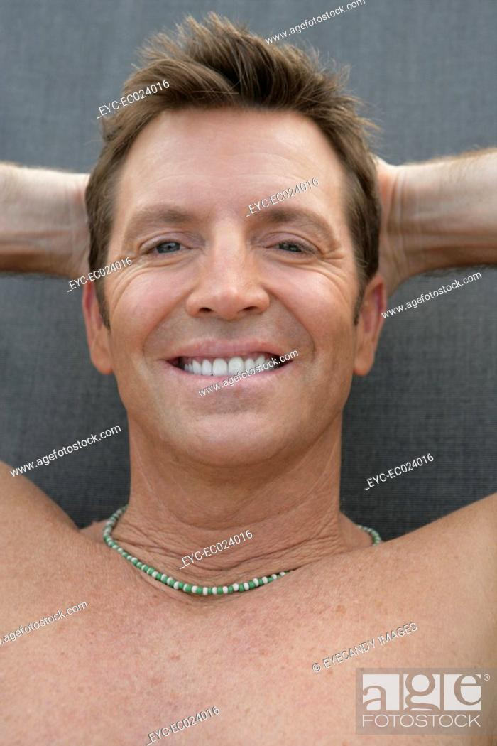 Stock Photo: View of man looking at the camera.