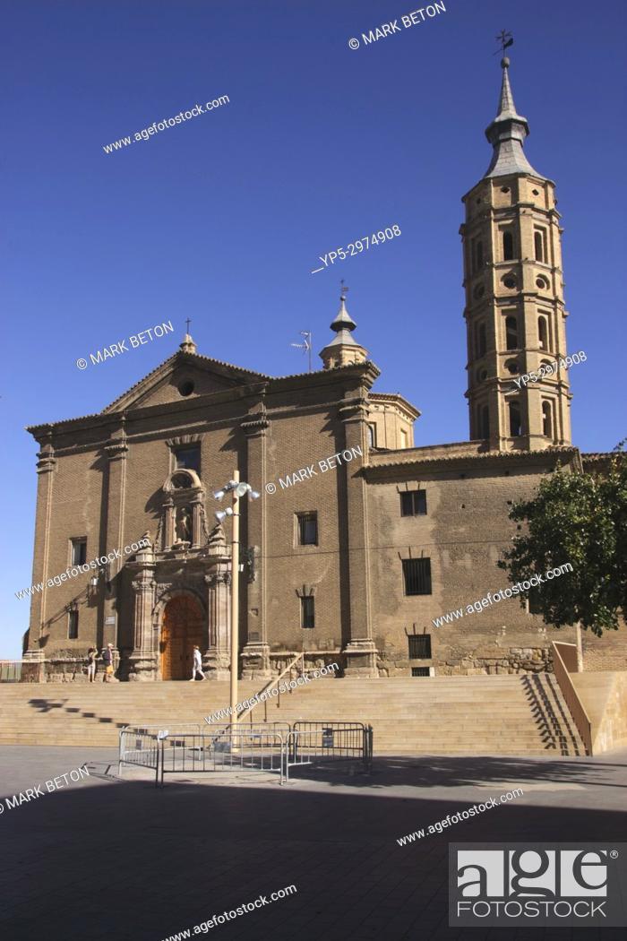 Stock Photo: Iglesia de San Juan de los Panetes church Zaragoza Spain.