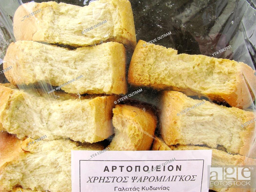 Greek Cuisine A Packet Of Paximadia Dried Bread Rusks Stock Photo Picture And Rights Managed Image Pic Yt4 1382931 Agefotostock