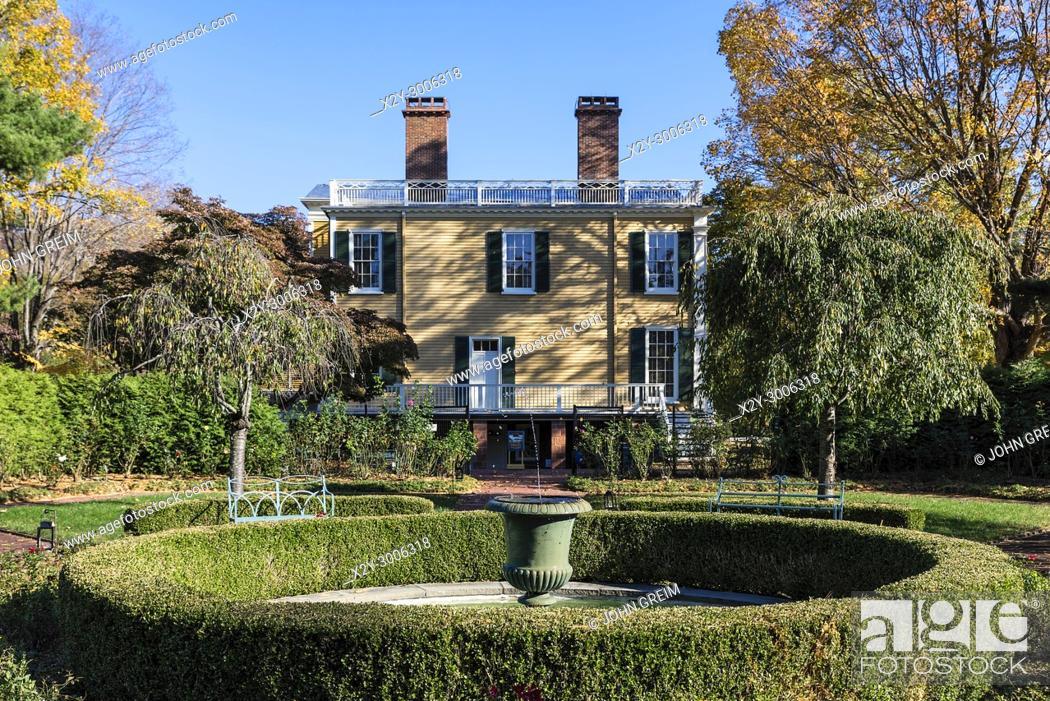 Stock Photo: Boscobel House and Gardens, Garrison, New York, USA.