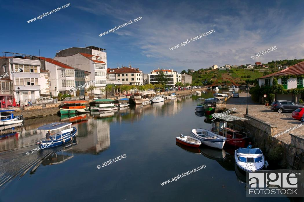 Stock Photo: Mandeo river, Betanzos, La Coruna province, Region of Galicia, Spain, Europe.