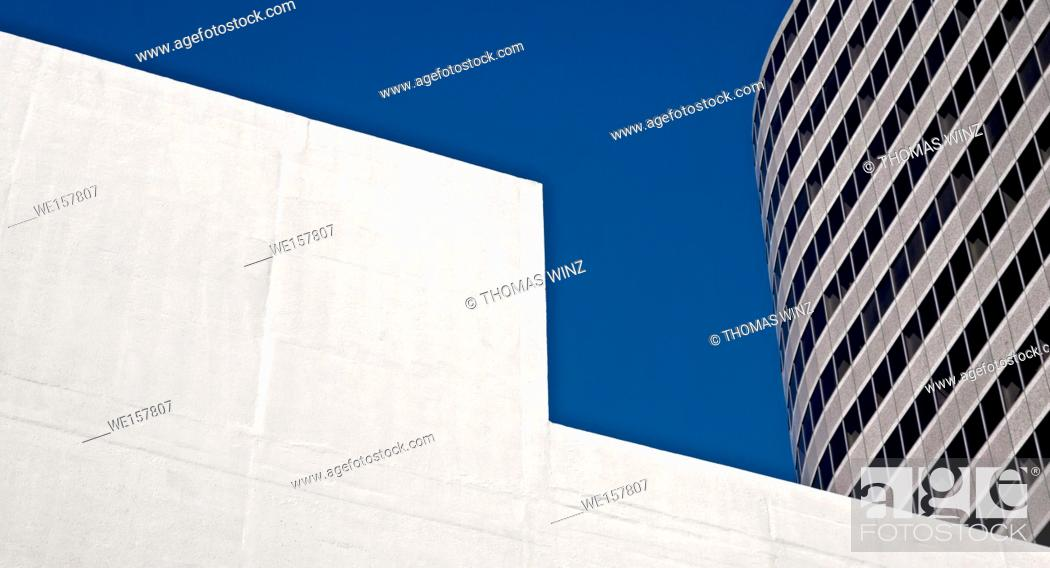 Stock Photo: Abstract view of two buildings.