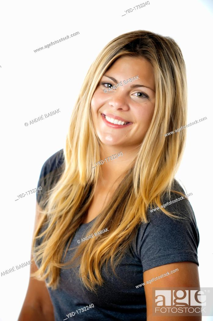 Stock Photo: Portrait Fitness Trainer, Female 22, Caucasian.
