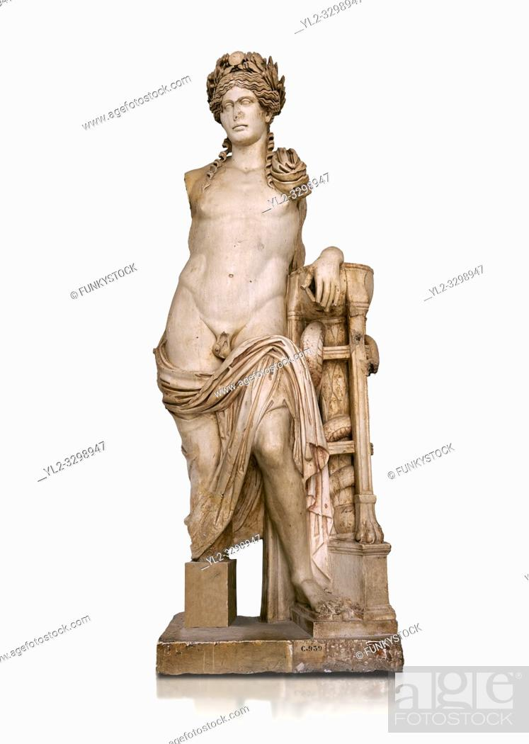 Stock Photo: Second Century Roman statue of Apollo excavated from the Theatre of Carthage. The Bardo National Museum, Tunis, Tunisia. Inv No C939.