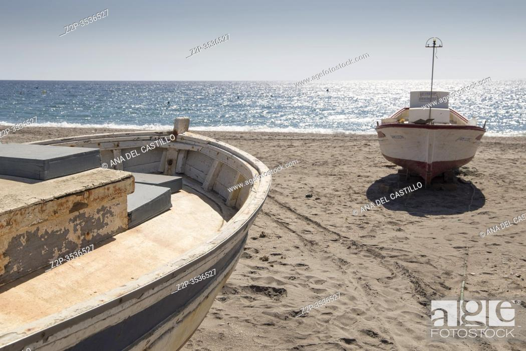 Stock Photo: Cabo de Gata beach in Almeria Andalusia Spain on Sept 17, 2017.