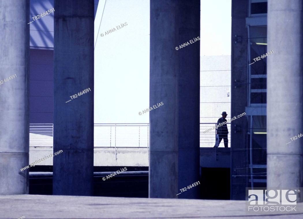 Stock Photo: Railway station by Santiago Calatrava, Lisbon. Portugal.