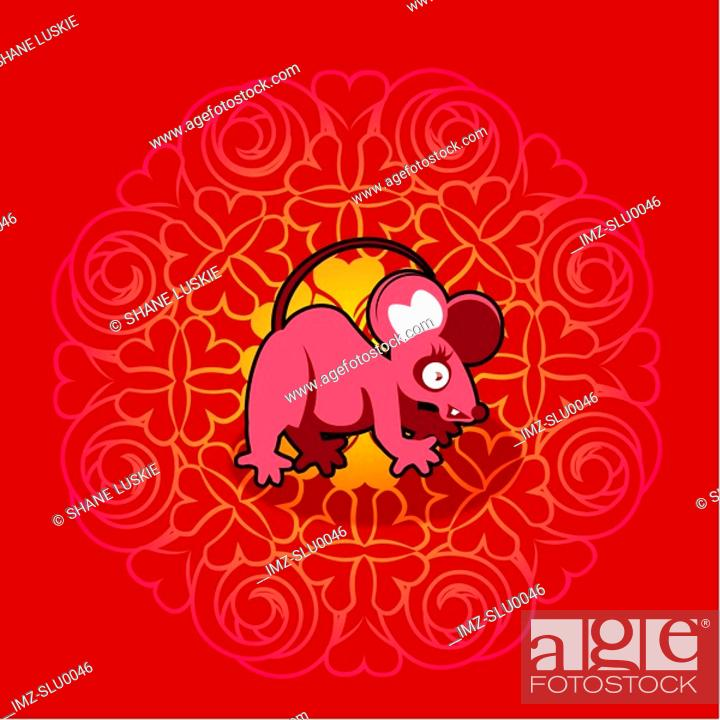 Stock Photo: Chinese new year symbol of mouse.