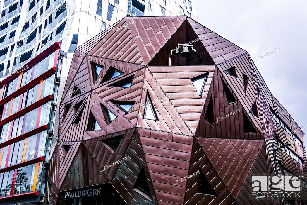 Imagen: Modern church in Rotterdam, the Netherlands, Europe.