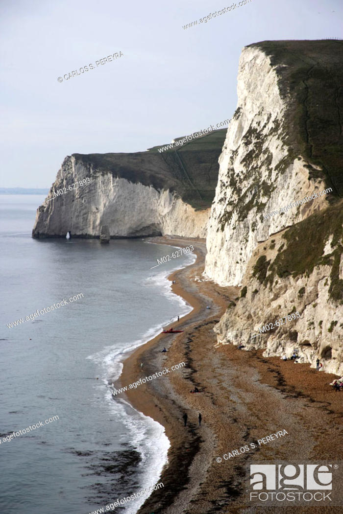 Stock Photo: Durdle Door at the Jurassic Coast in the South of England, UK.
