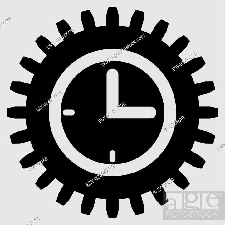 Stock Photo: Time Options Flat Icon.