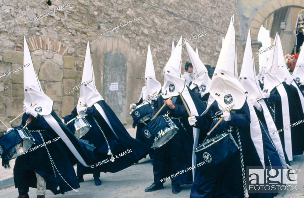Stock Photo: Holy Week in Lower Aragon. Spain.