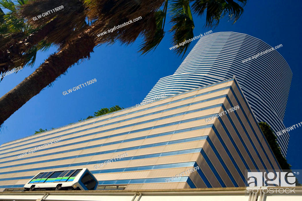 Stock Photo: Low angle view of a building, Miami, Florida, USA.
