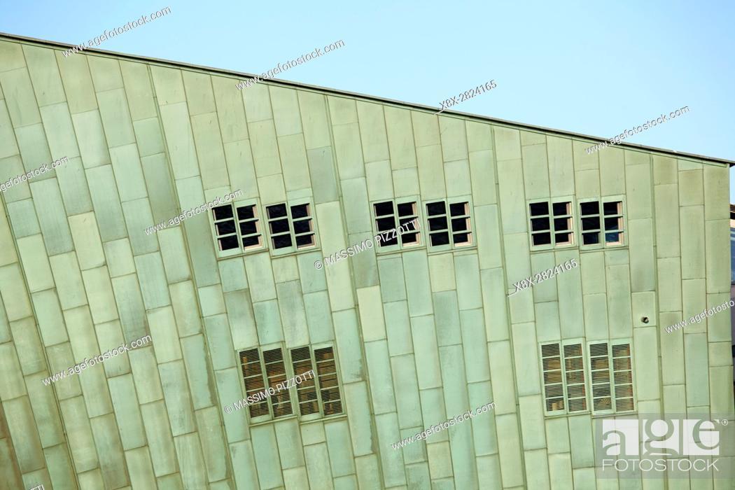 Stock Photo: NEMO Science Museum in Amsterdam, Netherlands.