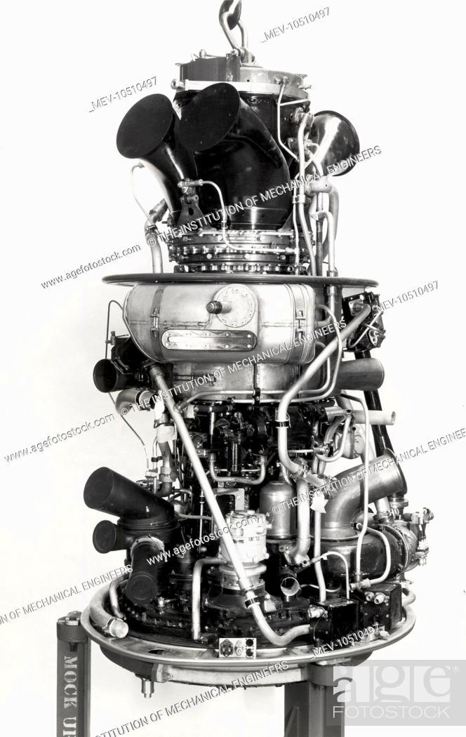 Stock Photo: Gazelle 18 1750 shp engine.