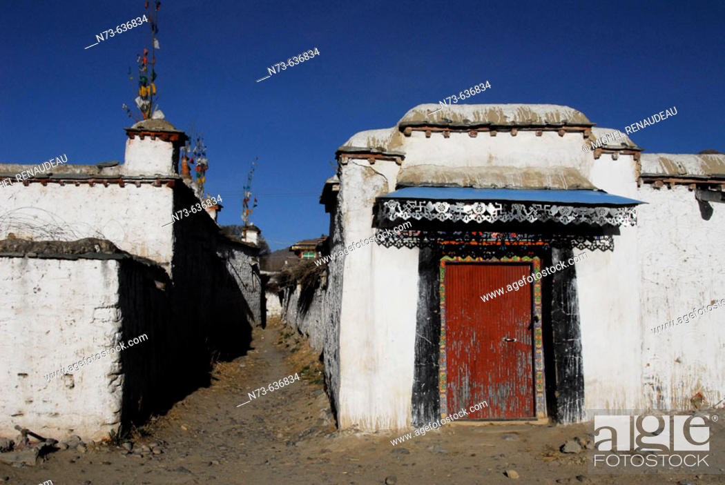 Stock Photo: Lhasa region. Tibet. China.