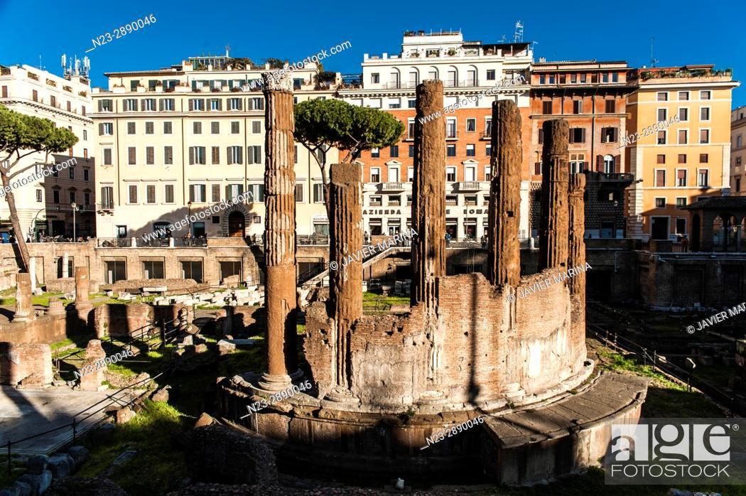 Stock Photo: Largo di Torre Argentina, Rome, Italy.