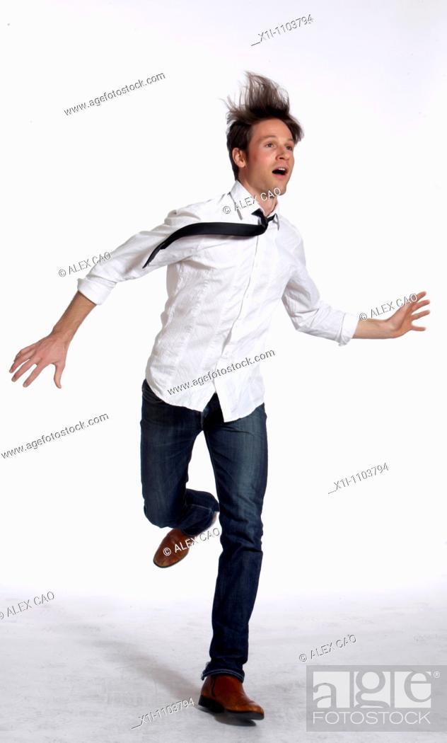 Stock Photo: Dynamic man.