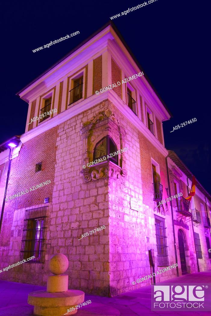 Stock Photo: Pimentel Palace, Valladolid, Castilla y Leon, Spain.