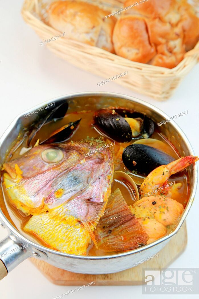 Stock Photo: Bouillabaisse.