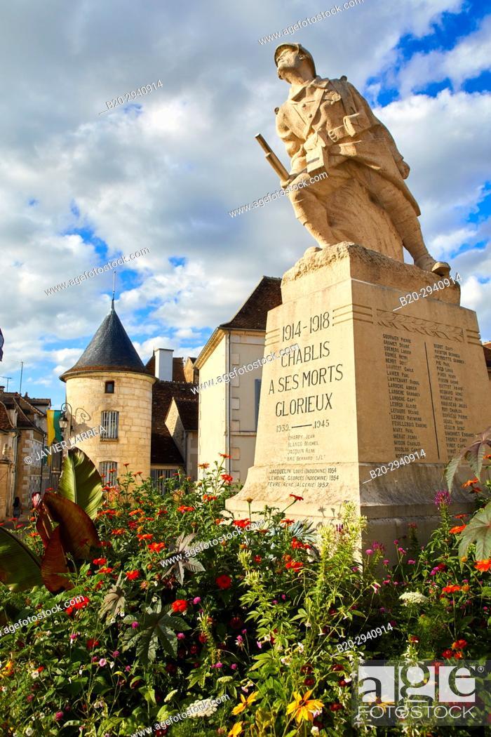 Stock Photo: Noel door, Porte Noel, Chablis, Yonne, Bourgogne, Burgundy, France, Europe.
