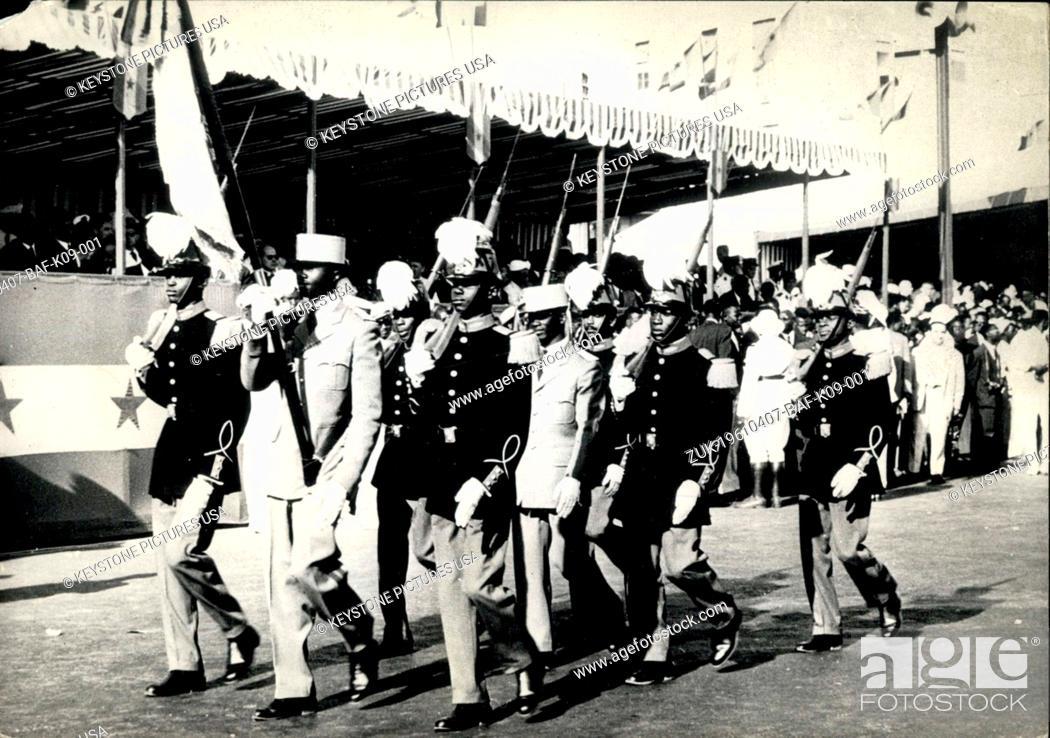 Stock Photo: Apr. 07, 1961 - Senegal Celebrates first anniversary of independence.: The first anniversary of the Independence of the republic of Senegal was celebrated in.