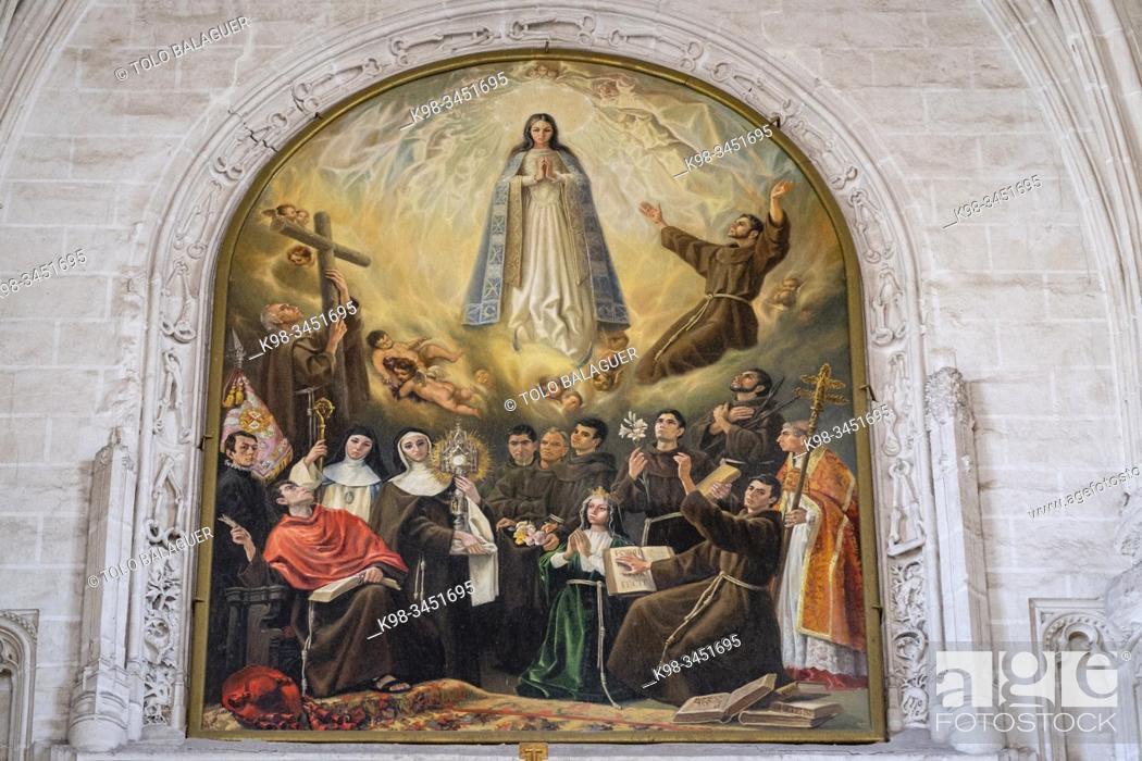 Imagen: Santa Elena con los milagros de la Cruz, Retablo mayor de la iglesia, Monasterio de San Juan de los Reyes, Toledo, Castilla-La Mancha, Spain.
