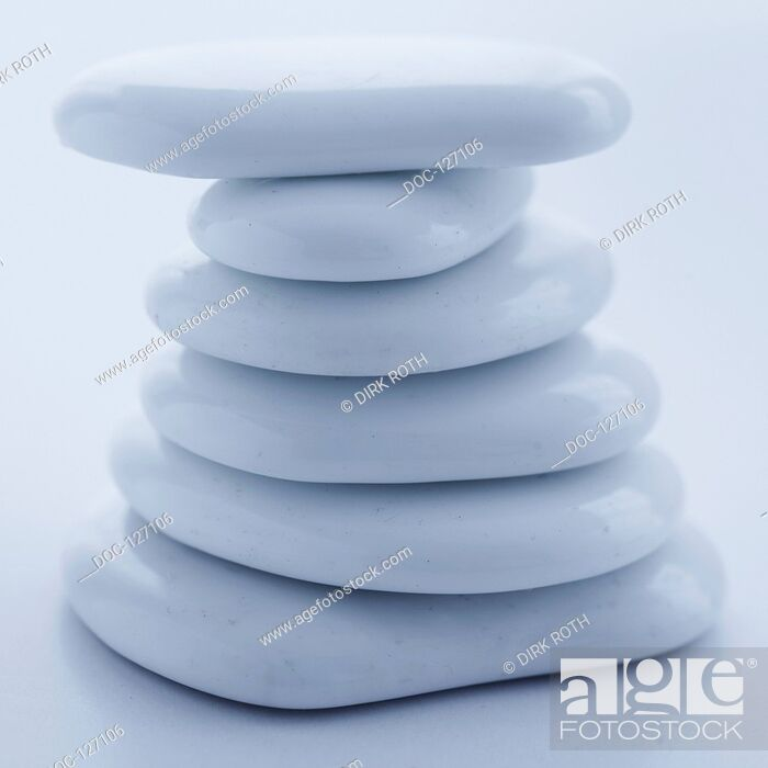 Stock Photo: White Stones.