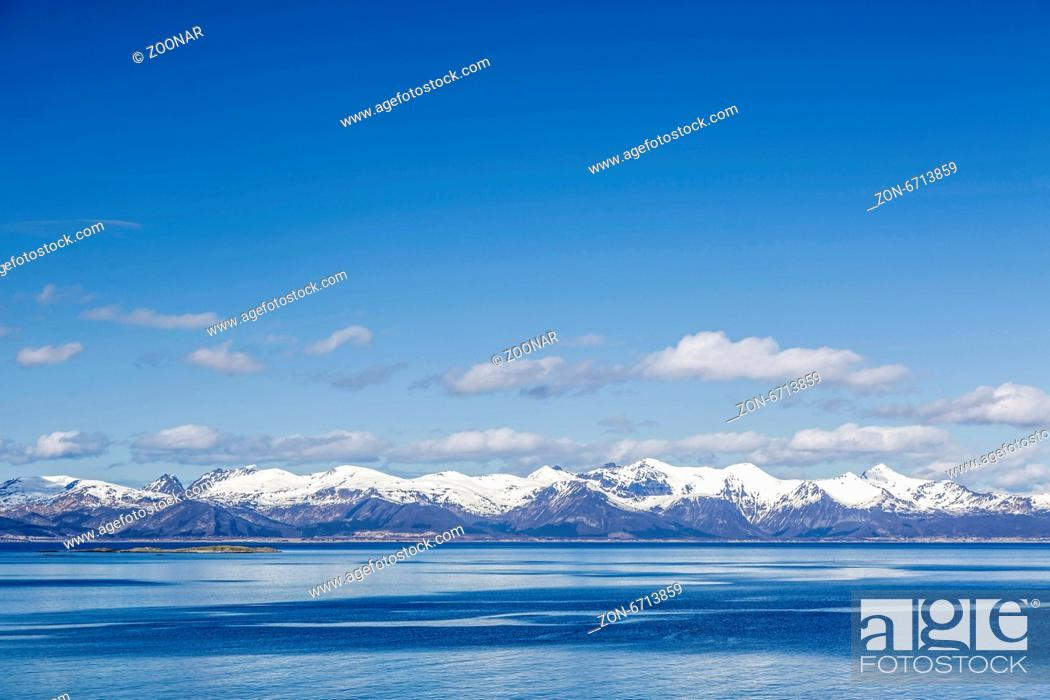 Stock Photo: Lofoten mountains.