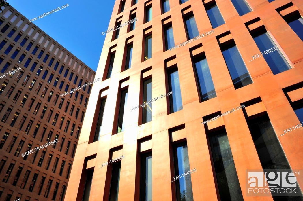 Stock Photo: Ciutat de la Justícia (City of Justice) by David Chipperfield Architects and Fermín Vázquez, Barcelona, Catalonia, Spain.