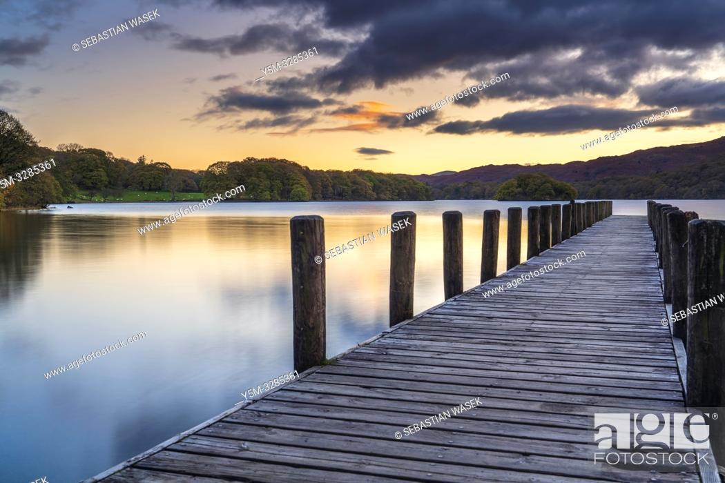 Stock Photo: Coniston Water, Coniston, Lake District National Park, Cumbria, England, UK, Europe.