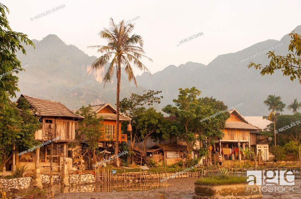 Stock Photo: Mai Chau, little village near Laos border. Vietnam.