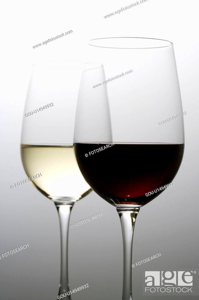 Stock Photo: Two glasses of wine.