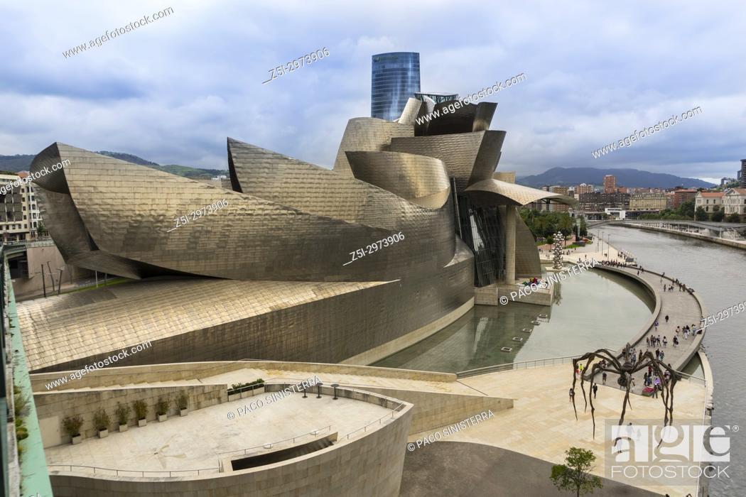 Stock Photo: Guggenheim Museum, Bilbao, Bizkaia, Basque Country, Spain.