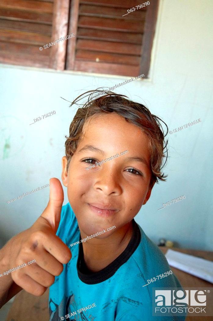 Stock Photo: Brazil  Hope House, children's day care center at the favela of Balcau in Joao Pessoa, Paraiba State.
