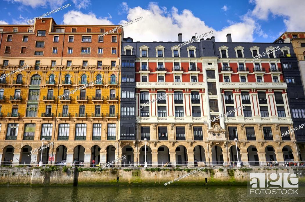 Imagen: Nervion River, Bilbao, Biscay, Basque Country, Euskadi, Euskal Herria, Spain, Europe.