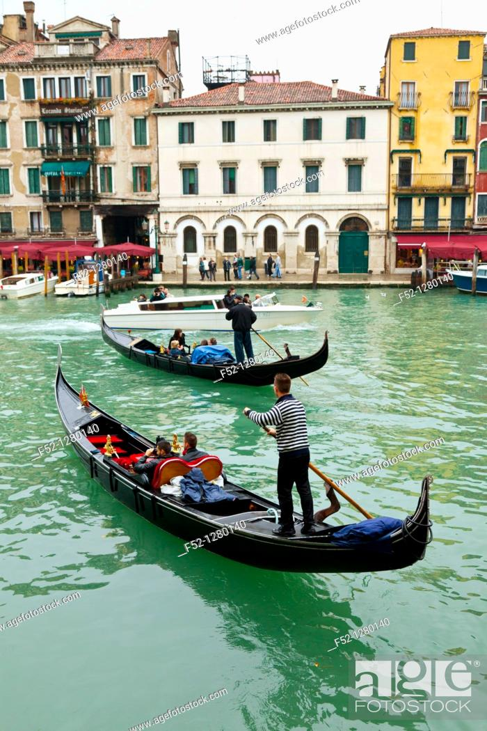 Stock Photo: Gondolas, Venice, Veneto, Italy.