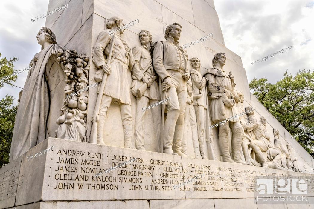 Stock Photo: Alamo Heroes Cenotaph Memorial San Antonio Texas. Monument to heroes killed in 1836 battle between Texas patriots and Mexican army.