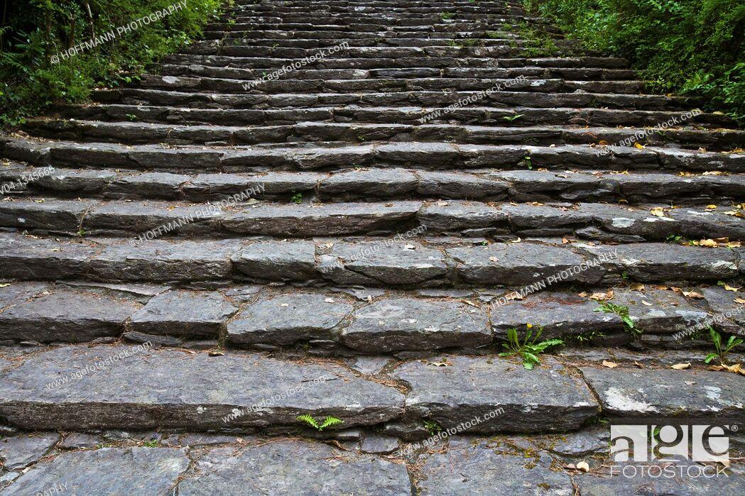 Stock Photo: Close up of stone steps, Ireland, Europe.