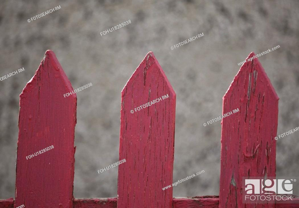 Stock Photo: saskatchewan, red, scenic, fence, picket, old.